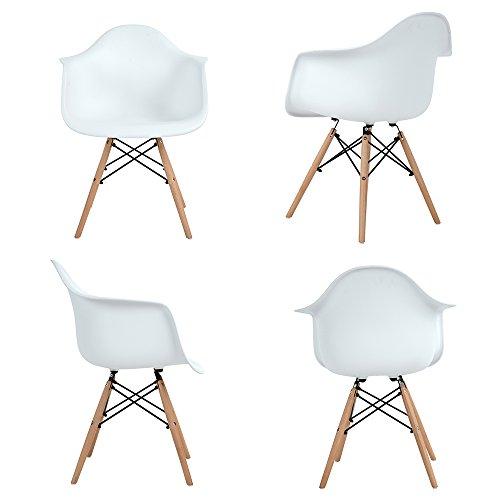 4x retro designerstuhl 4er esszimmerst hle mit armlehne. Black Bedroom Furniture Sets. Home Design Ideas