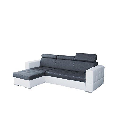 elegantes eckcouch jazz mit einstellbare kopfs tze. Black Bedroom Furniture Sets. Home Design Ideas