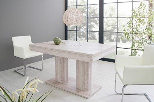 Esstisch 'Miles' Küchentisch Esszimmertisch 140-220cm ausziehbar Modern, Farbe:Sorrento Eiche