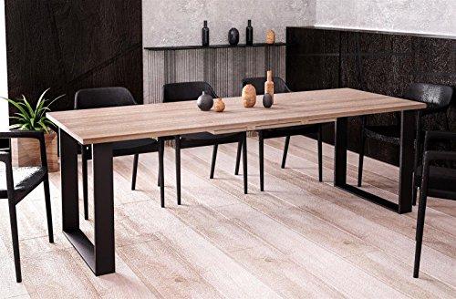 Kufentisch Esstisch Cora Wildeiche ausziehbar 130cm - 210cm Küchentisch mit Kufen Design