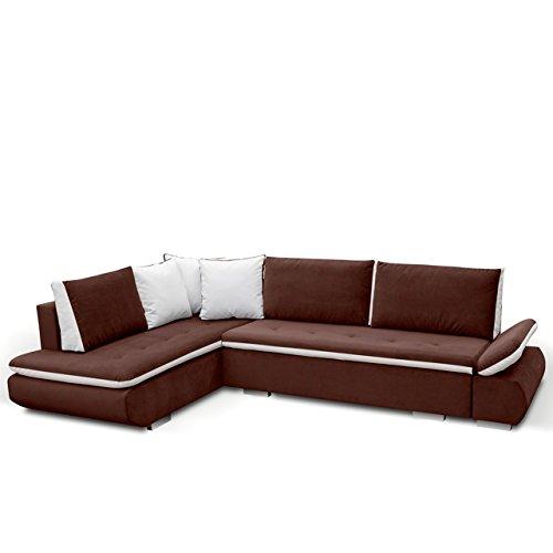 mirjan24 ecksofa argent polsterecke eckcouch mit. Black Bedroom Furniture Sets. Home Design Ideas