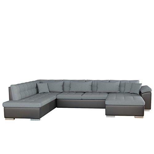 Mirjan24  Ecksofa Niko Bris! Technologie Cleanaboo, Schwerentflammbar, Sofa Couch mit Schlaffunktion, Eckcouch, U-Form Wohnlandschaft! (Seite: Rechts, Soft 011 + Bristol 2446)