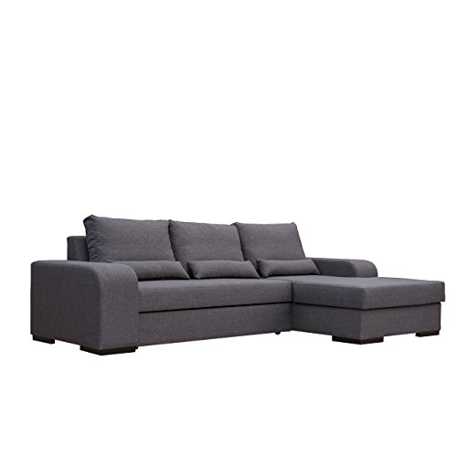 mirjan24 ecksofa virago l form eckcouch ausziehbar sofa. Black Bedroom Furniture Sets. Home Design Ideas