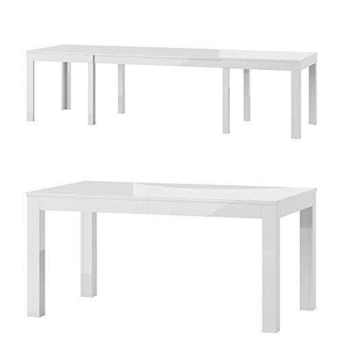 Tisch Küchentisch Esszimmertisch Esstisch WENUS Ausziehbar 300 cm !!! (weiß Hochglanz)
