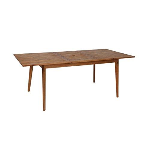 greemotion Garten-Esstisch ausziehbar Sylt - Design-Gartentisch aus Akazie - Ausziehbarer Tisch aus Holz - Outdoor-Holztisch mit Schirmloch - Ausziehtisch für Terrasse & Balkon