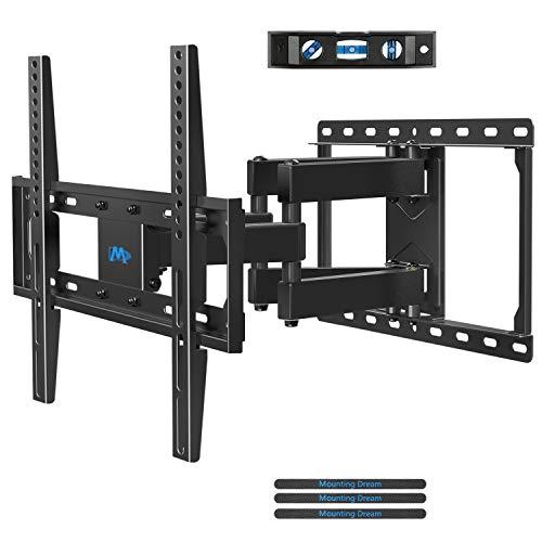 Mounting Dream TV Wandhalterung Schwenkbar Neigbar Ausziehbar, Fernseher Halterung für die meisten LED, LCD, OLED und Plasma Flach Bildschirm TVs