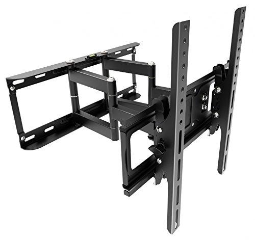 RICOO TV Wandhalterung Neigbar Schwenkbar S1144 Universal Fernsehhalterung LCD Wandhalter Ausziehbar Fernseher Halterung Flachbildfernseher 76cm/30-165cm/65 Zoll/VESA 200x200 400x400 / Schwarz