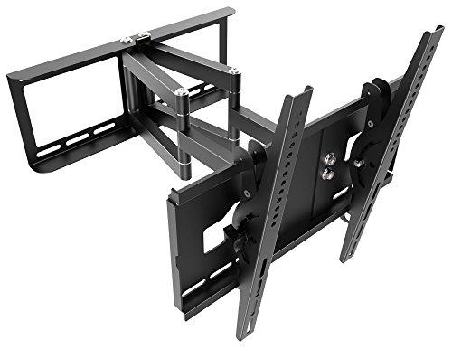 RICOO TV Wandhalterung Schwenkbar Neigbar R48 Universal LCD Wandhalter Ausziehbar Fernseher Halterung Curved 4K OLED Flachbildfernseher 80cm/30-165cm/65 Zoll VESA 200x200 400x400 / Schwarz