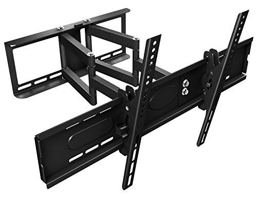 RICOO Wandhalterung TV Schwenkbar Neigbar R08-XL Universal LCD Wandhalter Ausziehbar Fernseher Halterung Curved 4K LED Flachbildfernseher 107cm/42-165cm/65 Zoll/VESA 600x400 / Schwarz