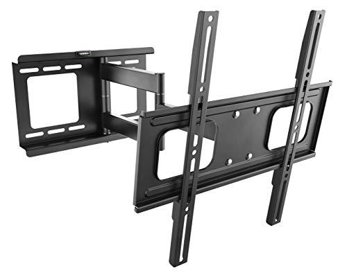 RICOO Wandhalterung TV Schwenkbar Neigbar S2544 Universal LCD Wandhalter Ausziehbar Fernseher Halterung Curved 4K OLED QLED Flachbildfernseher 80cm/32-165cm/65 Zoll/VESA 200x200 400x400 /Schwarz