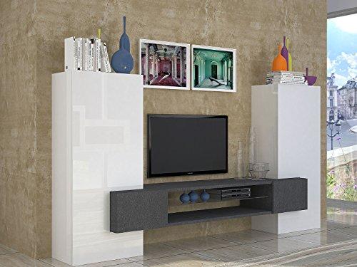 """Wohnwand Wohnzimmerschrank Mediawand Fernsehschrank Schrank TV """"Akka I"""""""