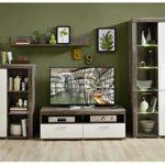möbelando Wohnwand Mediawand Schrankwand Wohnzimmerwand TV-Wand Anbauwand Laraine IV