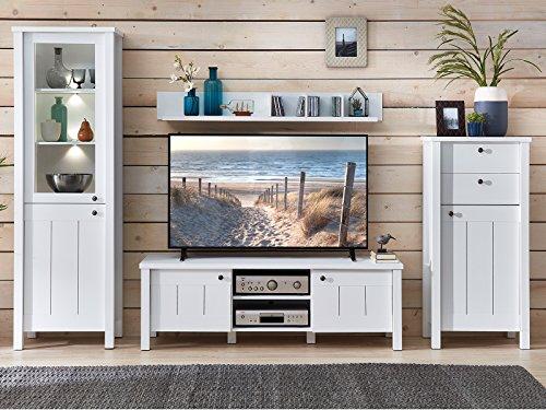 möbelando Wohnwand Mediawand TV-Wand Anbauwand Schrankwand Wohnzimmerwand Sarah II