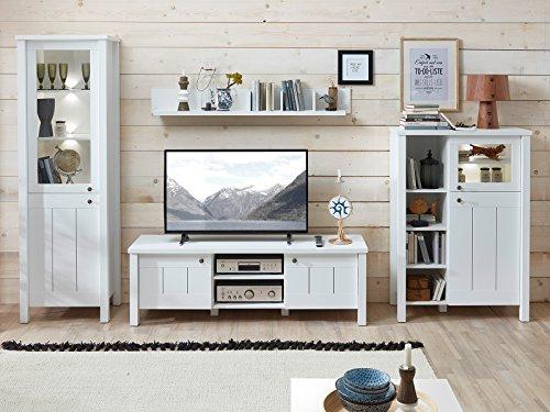 möbelando Wohnwand Schrankwand Wohnzimmerwand Anbauwand TV-Wand Mediawand Sarah I