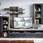 möbelando Wohnwand TV-Wand Anbauwand Mediawand Wohnzimmerwand Schrankwand Laraine I